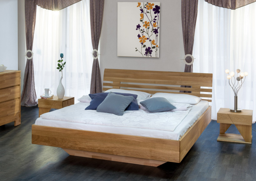 Massivholzbett CLOUD